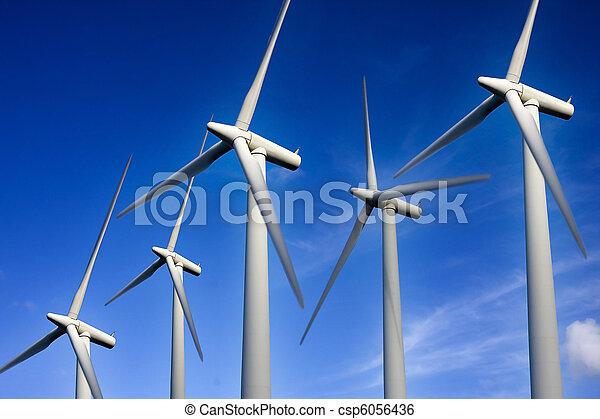 turbina, renovável, dê energia corda - csp6056436
