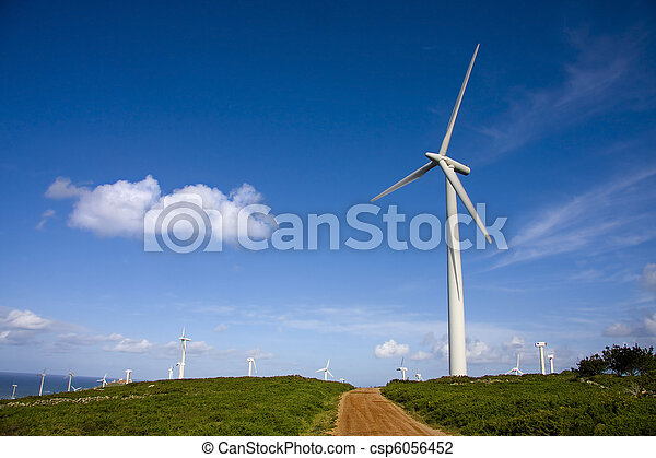 turbina, rinnovabile, energia vento - csp6056452
