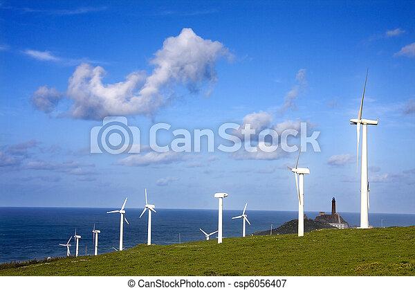 turbina, rinnovabile, energia vento - csp6056407