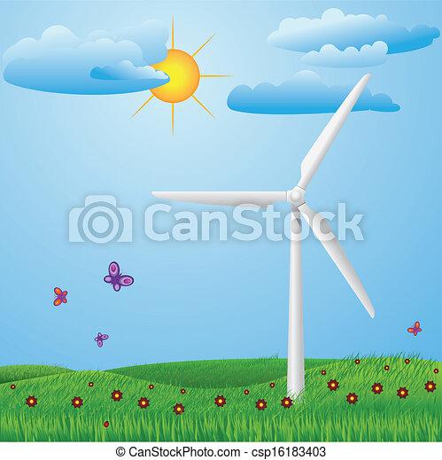 turbina, vento - csp16183403