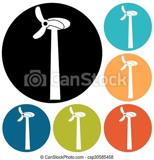 turbina, vento - csp30585458