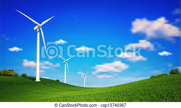 Turbina de viento - csp13740367