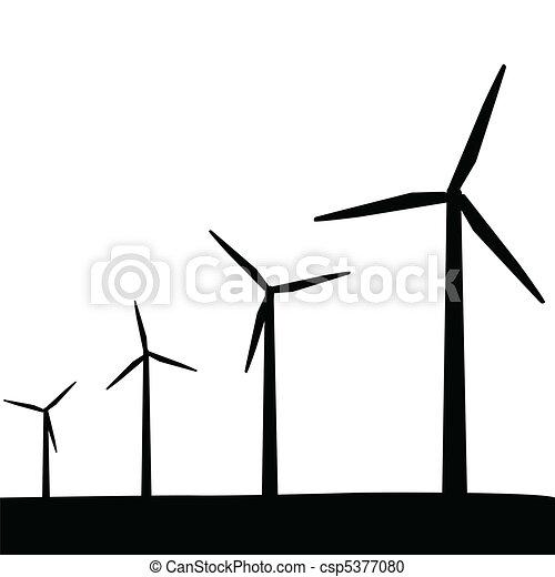 Turbinas de viento silueta - csp5377080