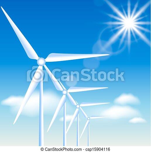turbinas, vento - csp15904116