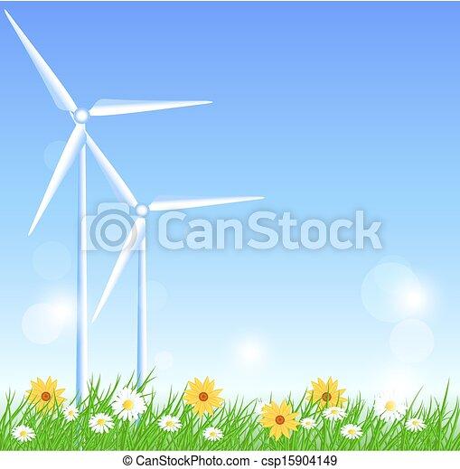 turbinas, vento - csp15904149
