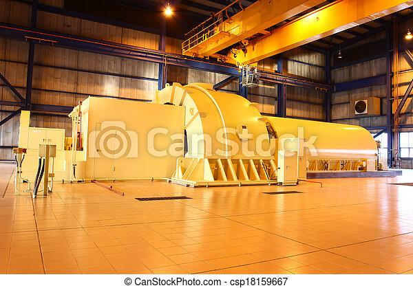 turbine, alimentez générateur, vapeur - csp18159667