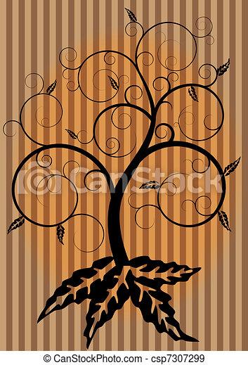 turbine, autunno, albero - csp7307299