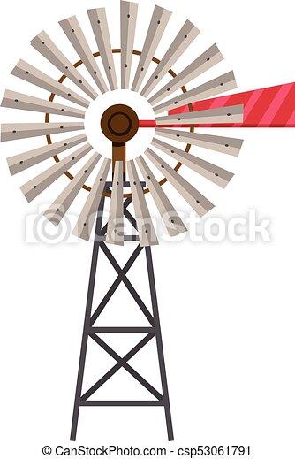 Turbine on white background - csp53061791