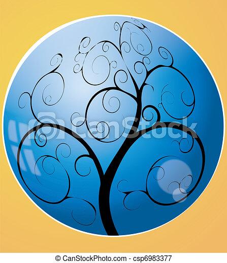 turbine, sfera, albero - csp6983377