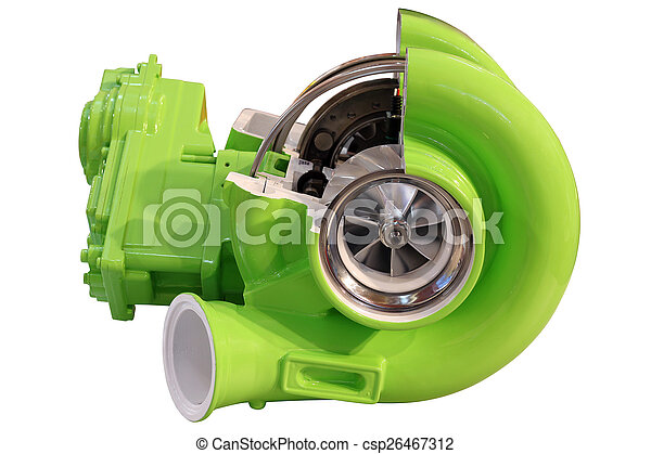 turbo charger isolated on white - csp26467312