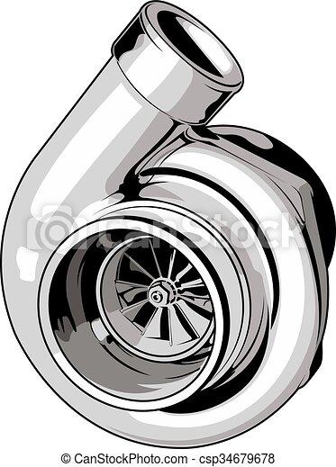 Turbo Motor Isolado Esportes Fundo Turbina Branca