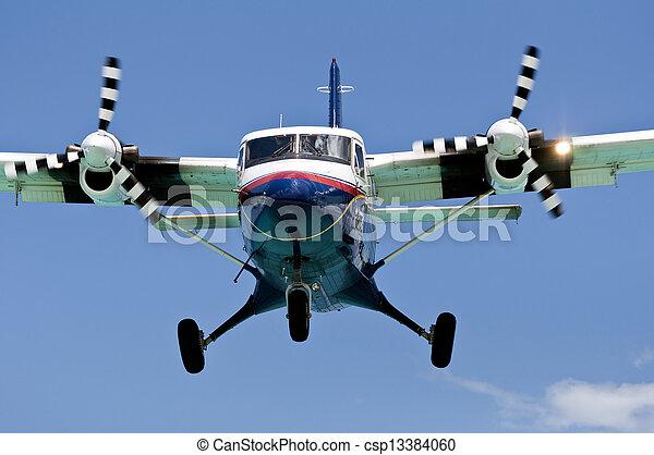 Turboprop passenger airplane. - csp13384060