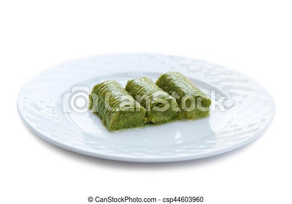 Turco Noci Sarma Dolce Pistacchio Verde Delizioso Involvere
