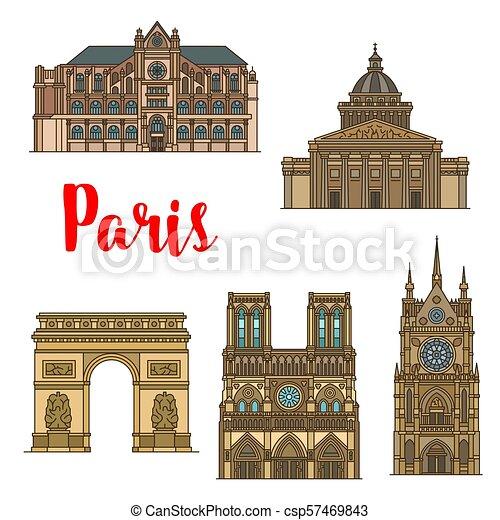 El ícono de los viajes franceses de París - csp57469843