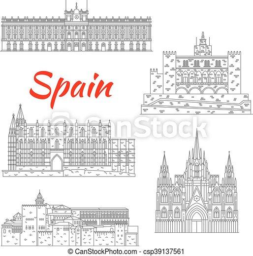 Famosos paisajes turísticos de España - csp39137561
