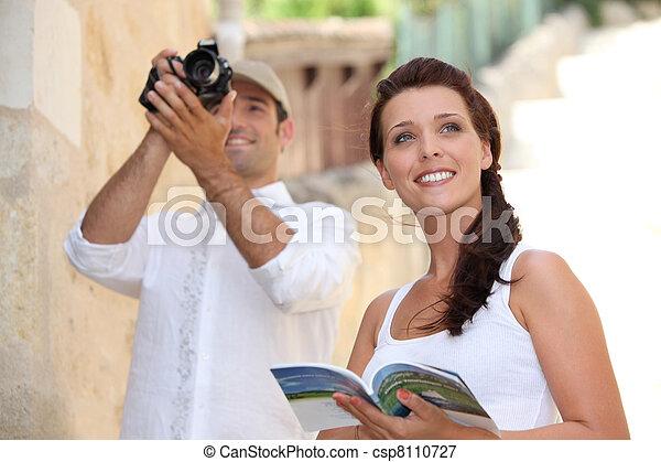 turisti, fotografare, monumenti - csp8110727
