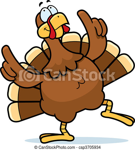 a happy cartoon turkey dancing and smiling eps vector search clip rh canstockphoto com
