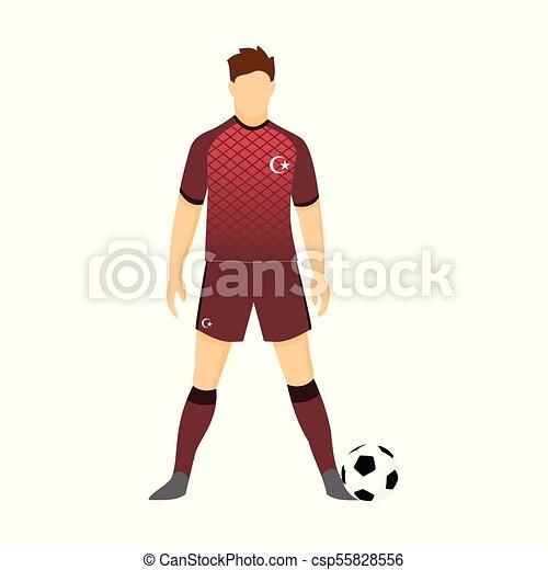 1a55aa1a774 Turkey football uniform national team illustration. Turkey football ...