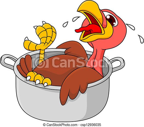 Turkey in the saucepan  - csp12936035