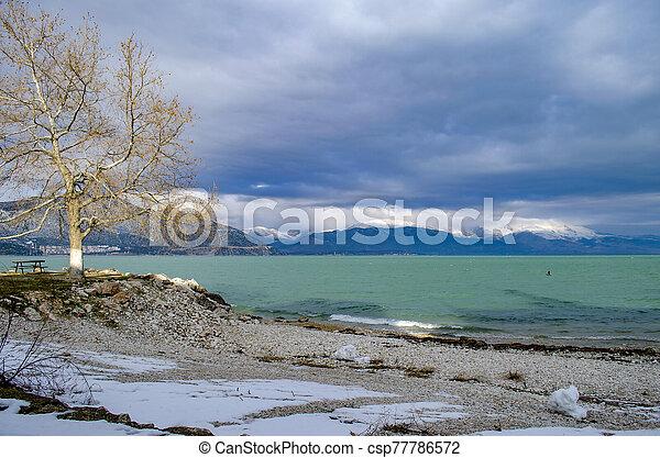 Turkey, Isparta province Egirdir lake - csp77786572