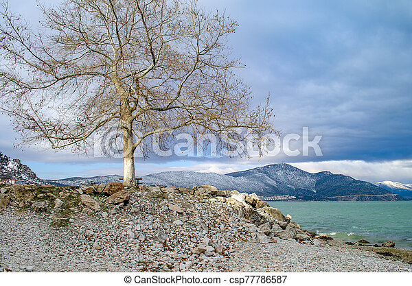 Turkey, Isparta province Egirdir lake - csp77786587