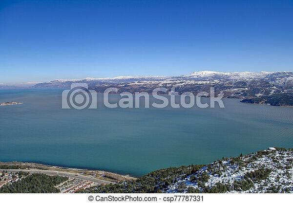 Turkey, Isparta province Egirdir lake - csp77787331
