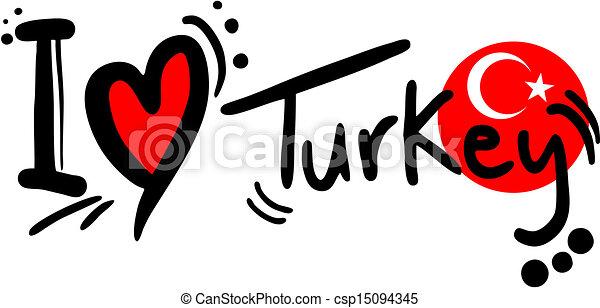 Turkey love. Creative design of turkey love.