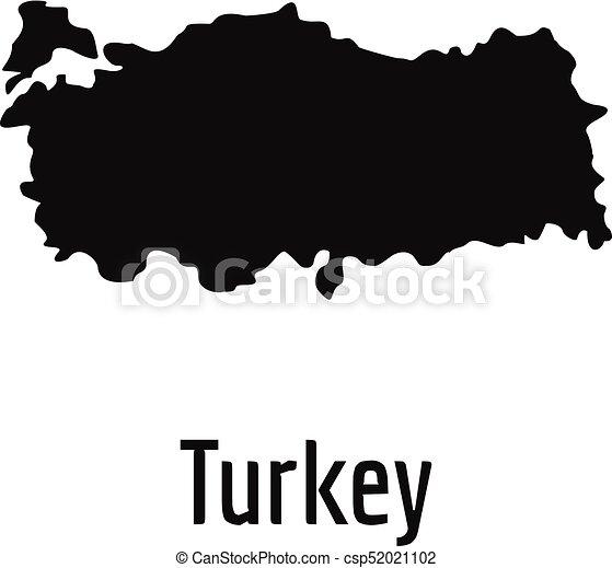 Turkey map in black vector simple Turkey map in black vector