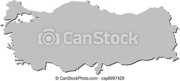 Turkey map turkish maps Vector illustration of the map of eps