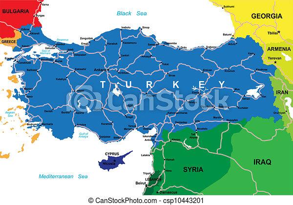 Turkey map - csp10443201