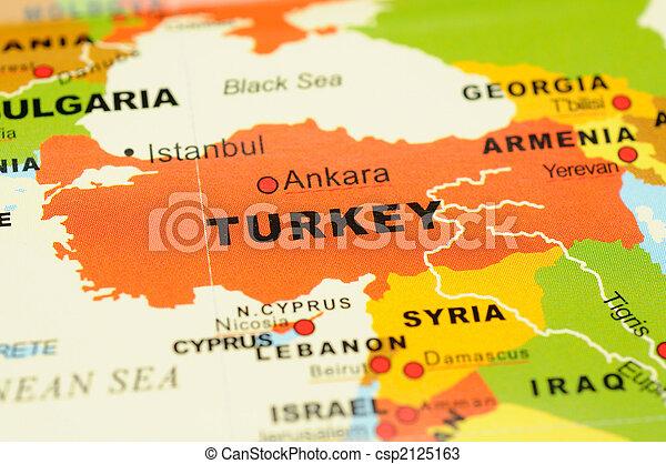 Turkey on map - csp2125163