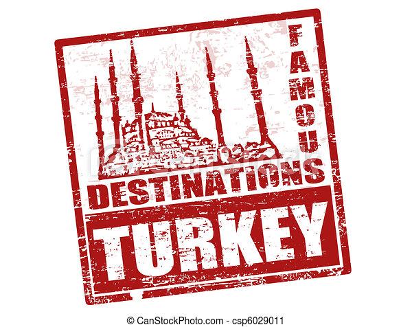 Turkey stamp - csp6029011