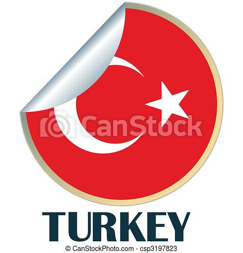 Turkey sticker csp3197823