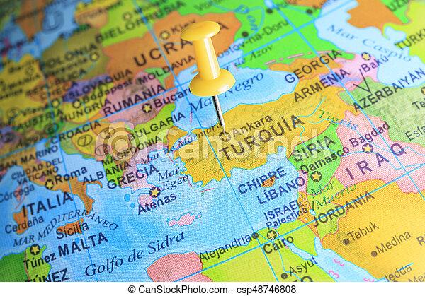 Turkiet Karta Europa Fastklamd