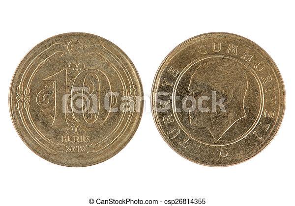 Turkish 10 Kurus Coin - csp26814355