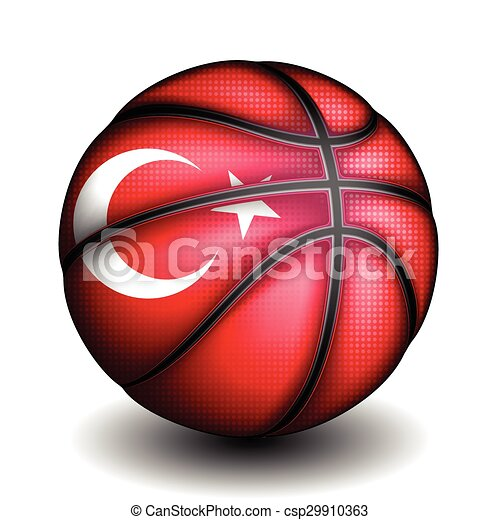 Turkish basketball, vector - csp29910363