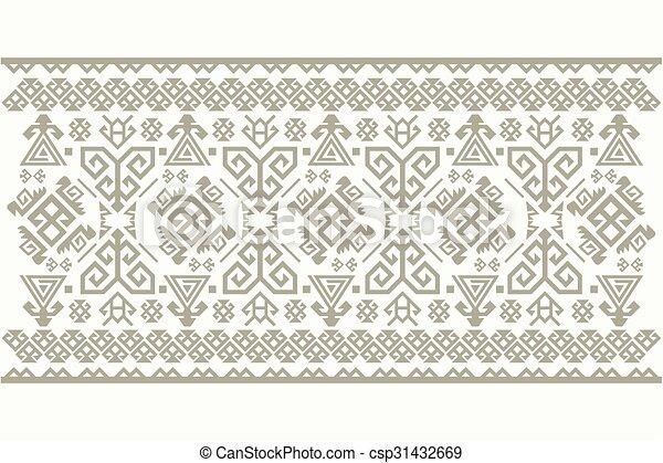 Vector Turkish Carpet Pattern Design Clip Art