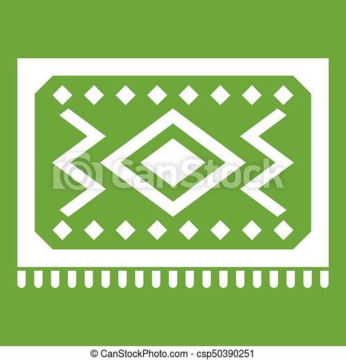 Turkish Carpet Icon Green