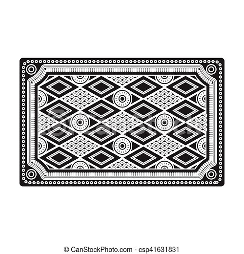 carpet clipart black and white. turkish carpet icon in black style isolated on white background. turkey symbol stock vector illustration clipart and l
