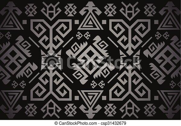 Vector Turkish Carpet Pattern Design Vectors Illustration
