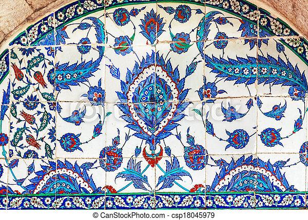 Turkish ceramic Tiles, Istanbul - csp18045979