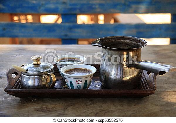 Turkish Coffee Setting in Lebanon - csp53552576