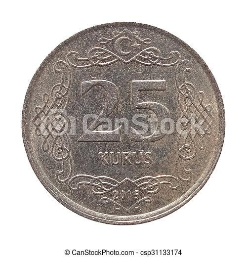 Turkish coin isolated - csp31133174