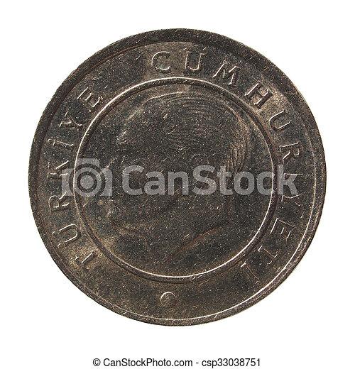 Turkish coin - csp33038751