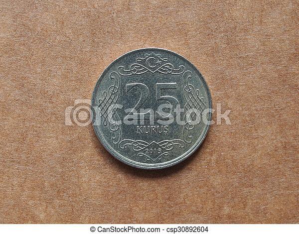 Turkish coin - csp30892604
