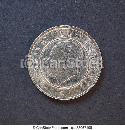 Turkish coin - csp33067108