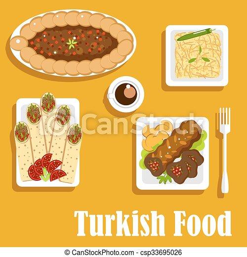 Turkish cuisine with kebab and shawarma authentic turkish for Authentic turkish cuisine