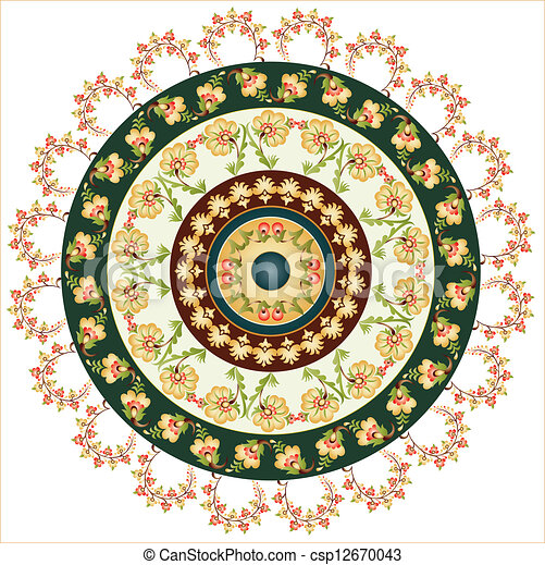 Turkish design circle - csp12670043