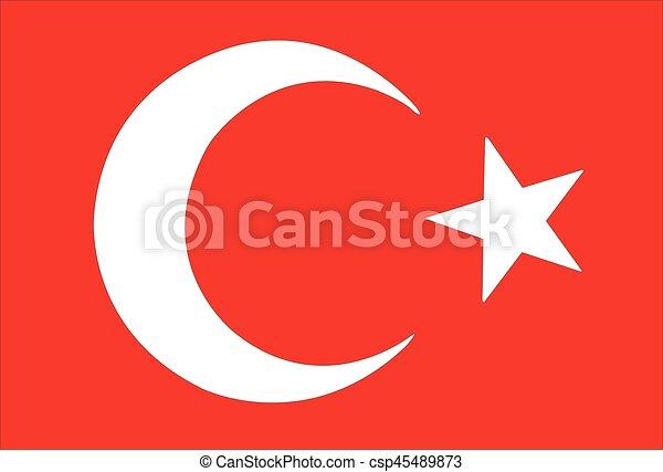 turkish flag - csp45489873
