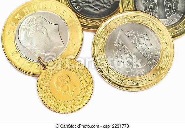 Turkish Gold Coin - csp12231773